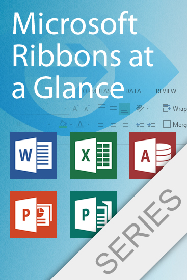 microsoft office 2013 ribbons series set of 5