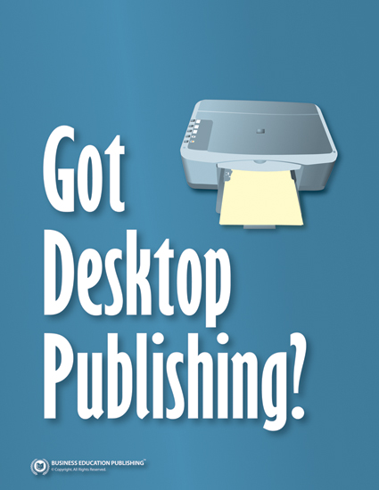 a report on desktop publishing Welcome to scribus, a page layout program for linux, freebsd, pc-bsd  the code of your desktop publishing tool that's what smart individuals and companies.