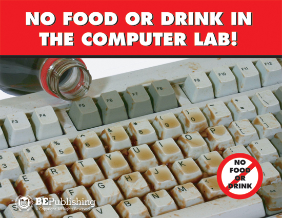 No Food Or Drink In The Computer Lab