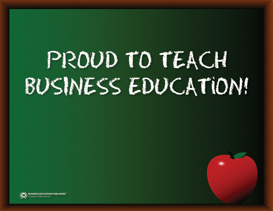 Proud to Teach Business Education