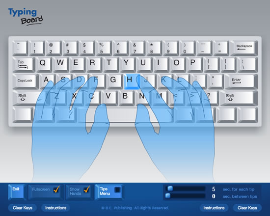typing board keyboarding software