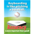 Keyboarding is Like Pitching a Baseball. Accuracy is More Important Than Speed!